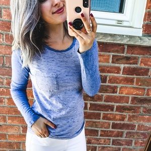 GAP Blue Baseball Tee XS